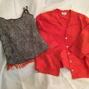Kathleen Sommers Silk Shantag jacket w/Poleci Top